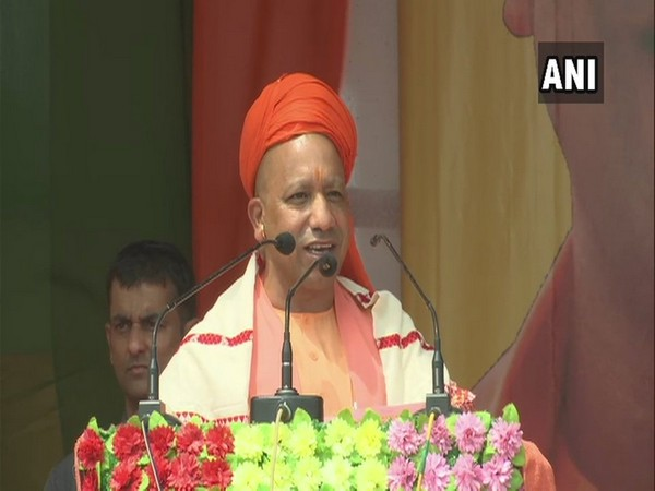 UP Chief Minister Yogi Adityanath during a rally in Assam on Saturday (Photo/ANI)