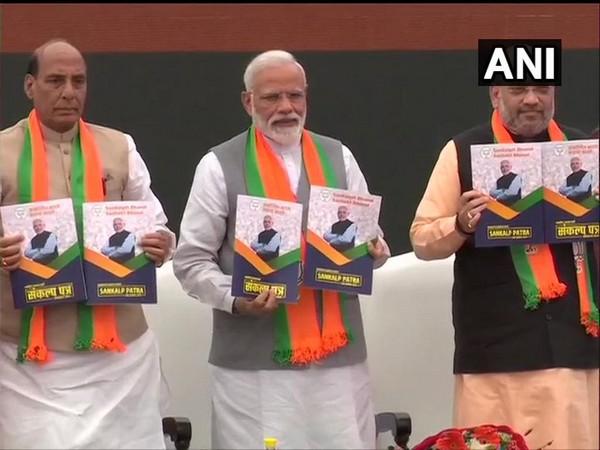 BJP manifesto launch in Delhi