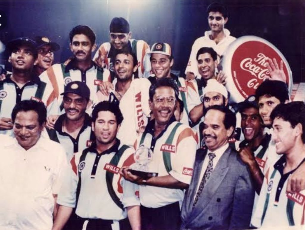 International debut match of Harbhajan Singh (Photo/Harbhajan Singh Twitter)