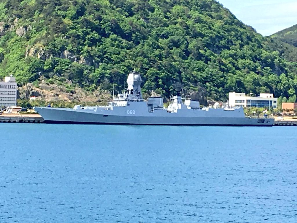 Indian Navy ship arrive in South Korea to participate in ADMM-Plus Maritime Security Field Training Exercise.