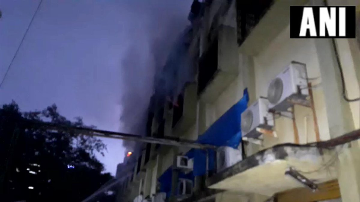 Visuals from the spot where a fire broke out at 2:30 am on Tuesday [Photo/ANI]