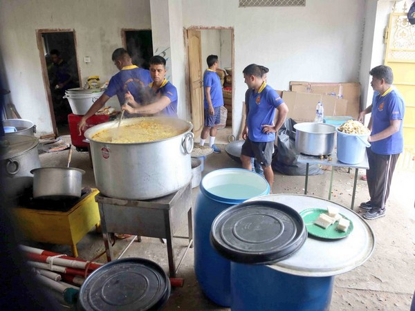Community kitchens set up by INS Chilka are working round the clock, Indian Navy said in a tweet.