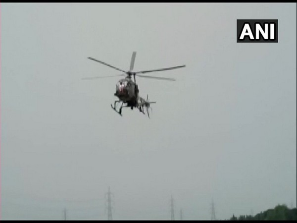 Indian Army's Cheetah chopper made an emergency landing in Assam's Nagaon on Wednesday. Photo/ANI