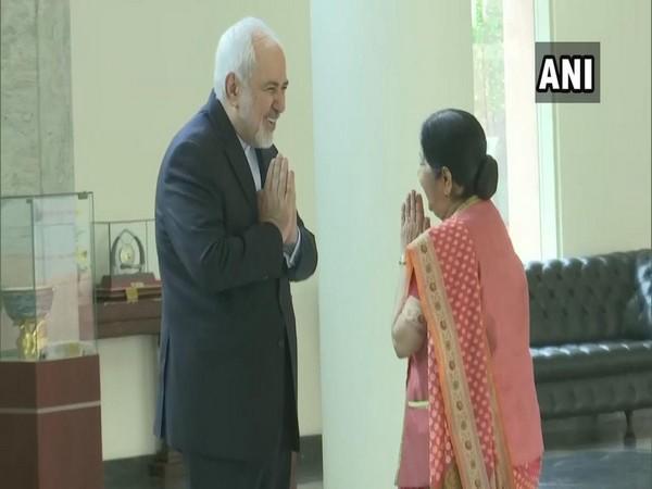 Iran Foreign Minister Mohammad Javad Zarif met External Affairs Minister Sushma Swaraj