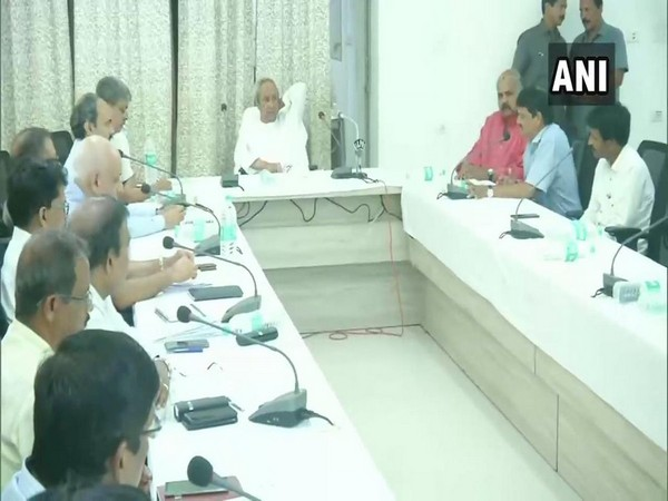 Odisha Chief Minister Naveen Patnaik during the review meeting in Puri on Wednesday. Photo/ANI