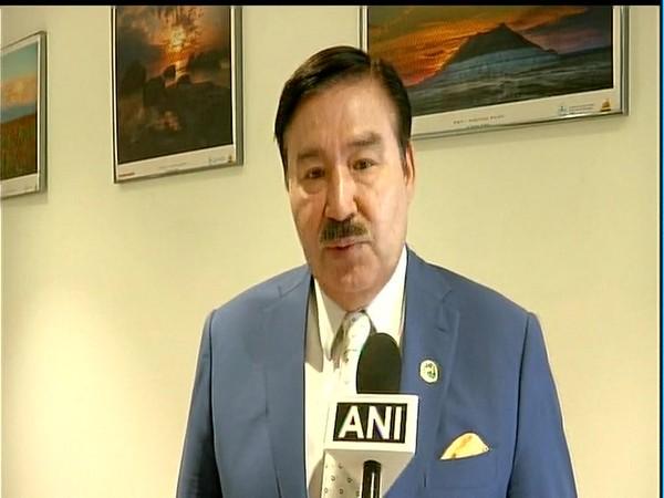 Ambassador of Kazakhstan to India, Bulat Sarsenbayev talking to ANI on the sidelines of a function here on Friday. Photo/ANI