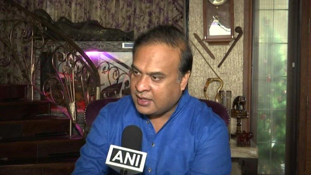 Himanta Biswa Sarma speaks to ANI in Bhopal on Thursday. [Photo/ANI]