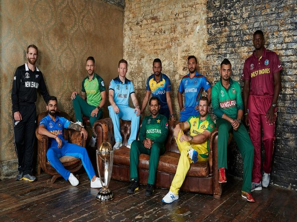 Skippers of the 10 teams participating in the ICC Men's Cricket World Cup (Photo/cricketworldcup Twitter)