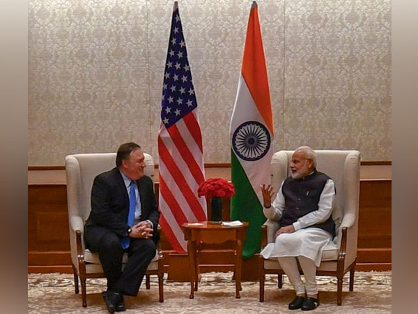 US Secretary of State Mike Pompeo and India's Prime Minister Narendra Modi