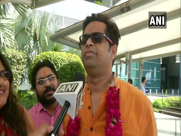 BJP's Saumitra Khan speaks to ANI in New Delhi on Saturday. [Photo/ANI]