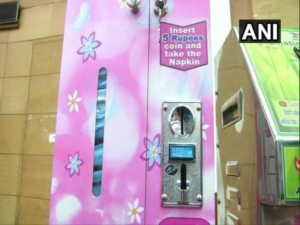 Sanitary napkin vending machine at Chennai hospital