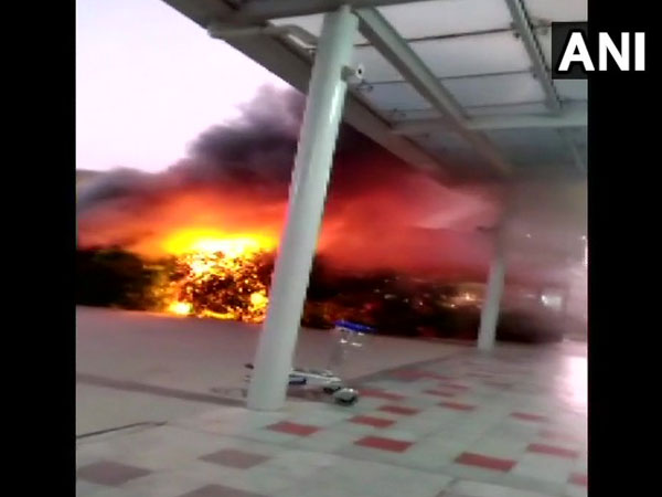 Fire at the Bengaluru international airport