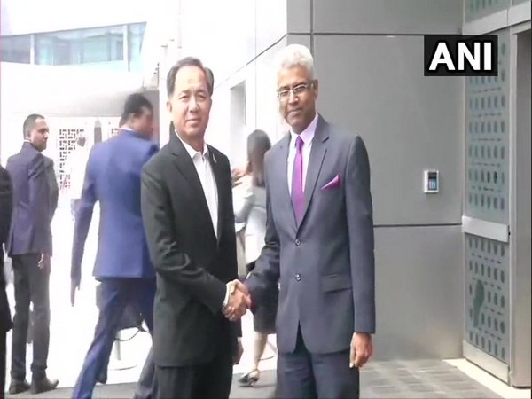 Thailand's Ambassador to India, Chutintorn Gongsakdi, and Thailand special envoy Grisada Boonrac on Thursday in Delhi