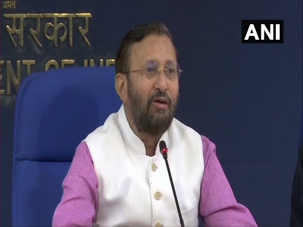 Union Information and Broadcasting Minister Prakash Javadekar addressing media after the Cabinet meeting in New Delhi on Wednesday. Photo/ANI