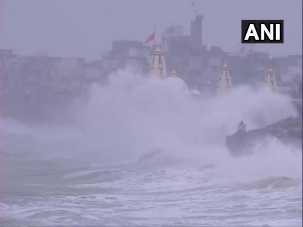 Rough sea conditions along Gujarat coast on Thursday.