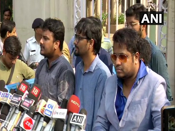 Members of Joint Platform of Doctors, West Bengal addressing media after meeting Governor Kesari Nath Tripathi on Thursday. Photo/ANI