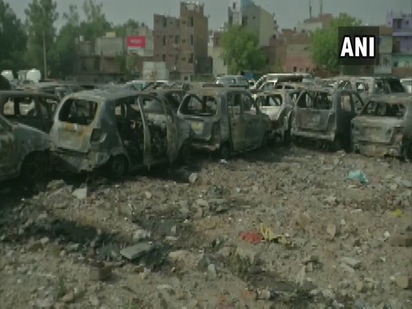 Over 50 cars gutted in fire in Delhi. [Photo/ANI]
