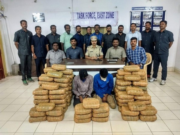 Hyderabad Task Force Police arrested two persons and seized 200kg marijuana in Hyderabad on Monday