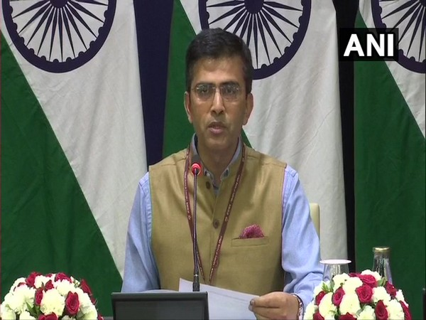 MEA spokesperson Raveesh Kumar while addressing a press conference in New Delhi on Thursday. Photo/ANI