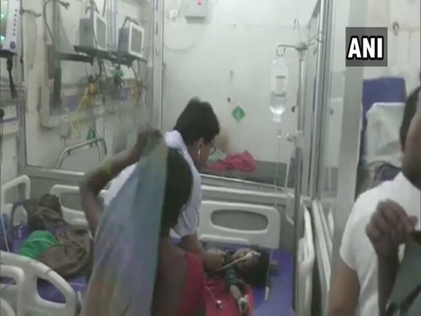 A doctor examines a child admitted at SKMCH (File photo: ANI)