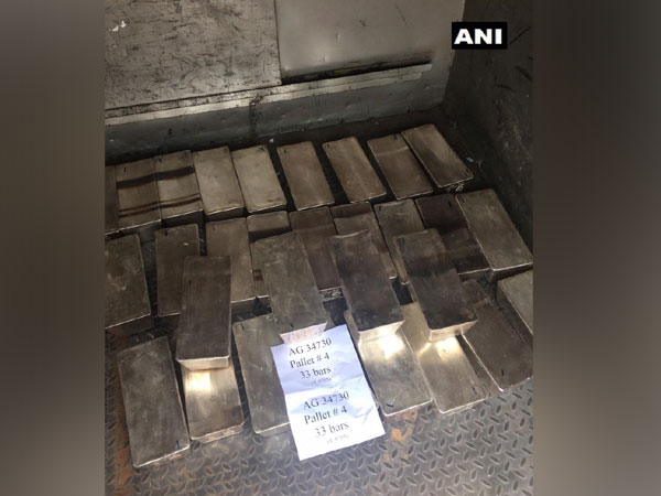 police seized 33 kg of silver bars on Monday (Photo/ANI)