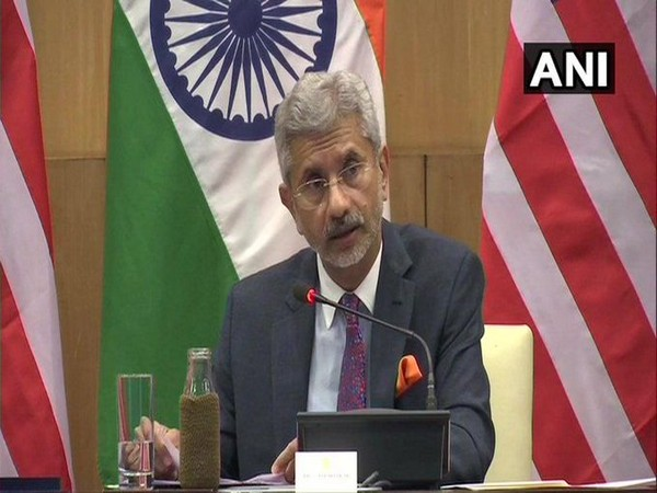 External Affairs Minister S. Jaishankar addressing a press conference in the capital on Wednesday