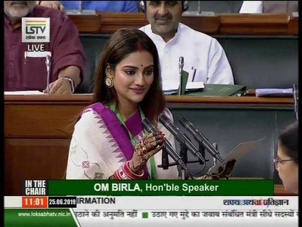 TMC MP Nusrat Jahan (Photo courtesy: LS TV)
