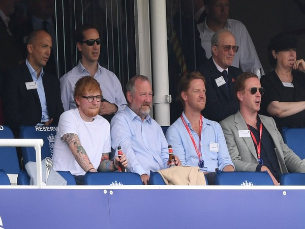 Singer Ed Sheeran watching the match between England and Australia (Photo/Lord's Cricket Ground Twitter)