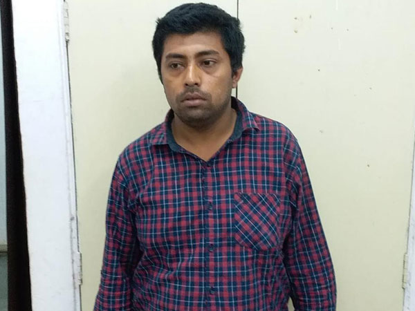 Accused Piyush Priya arrested by Delhi Police in Delhi on Saturday. Photo/ANI