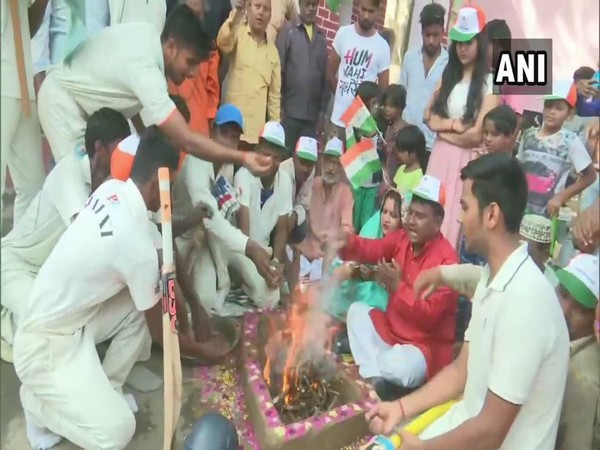 Fans in Uttar Pradesh's Gorakhpur perform havan for Men in Blue's victory against Pakistan