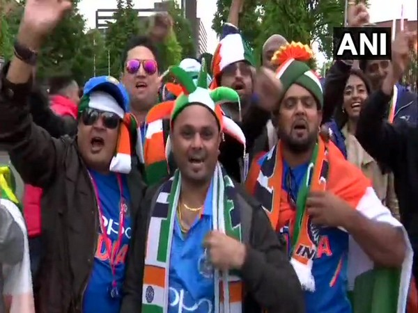 Fans rejoyce India's victory over Pakistan in Manchester