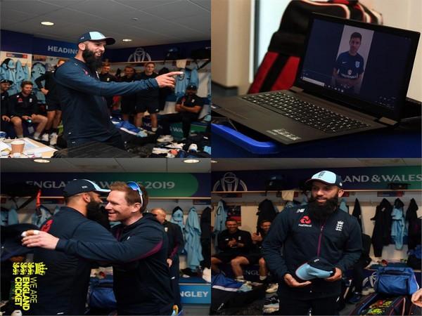 Moeen Ali receives video message from Steven Gerrard (Photo/ England Cricket Twitter)