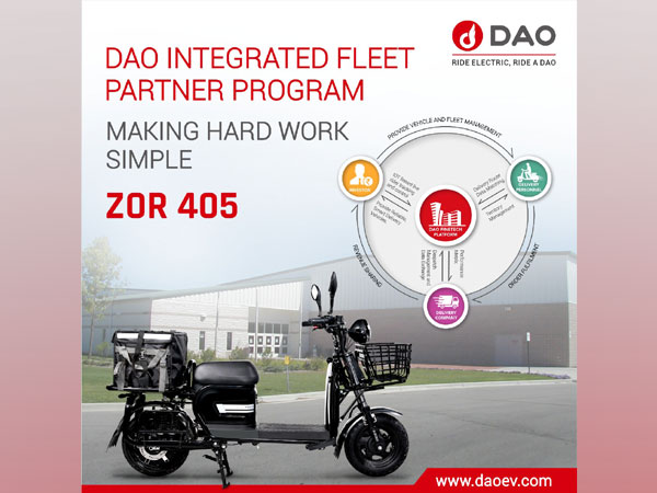 DAO ZOR 405 a first-of-its-kind specially designed electric vehicle for the delivery business in India