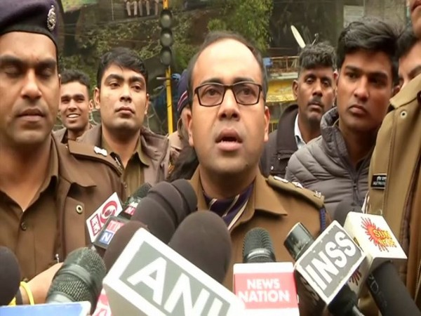 DCP Devendra Arya speaking to reporters in New Delhi on Wednesday. Photo/ANI