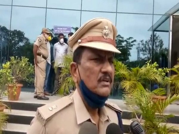 Venkateshwar Rao, DCP Madhapur speaks to media on Friday. [Photo/ANI]