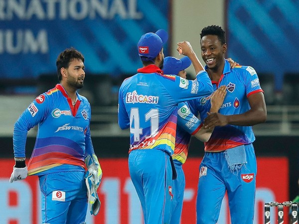 Delhi Capitals players celebrating after taking a wicket (Photo/Delhi Capitals Twitter)