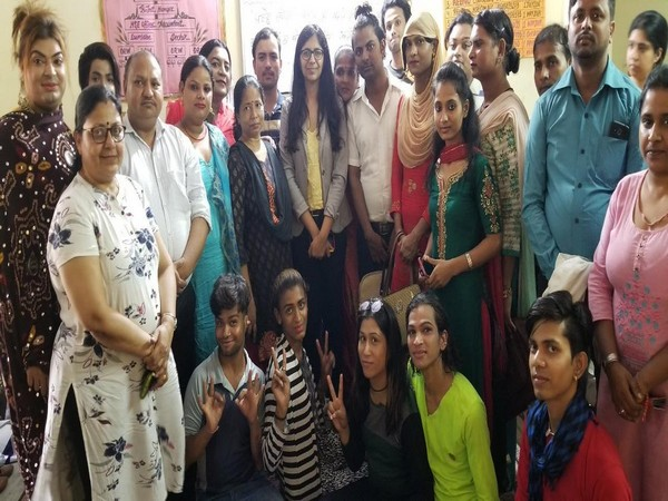 Members of the DCW and transgender community on Monday.( Photo/ANI)