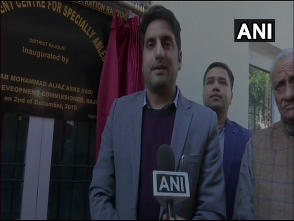 District Development Commissioner Mohammad Aijaz Asad speaking to ANI in Rajouri on Monday. (Photo/ANI)