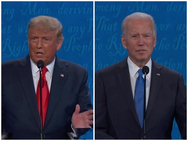 US President Donald Trump and Democratic nominee Joe Biden on the final debate before the election next month.