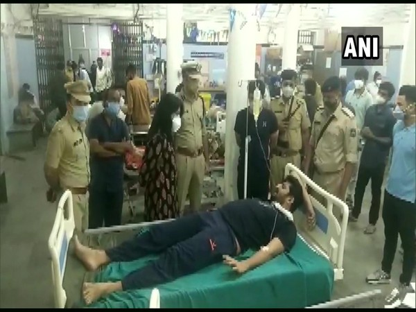 The injured have been admitted to a hospital where they are undergoing treatment. (Photo/ANI)