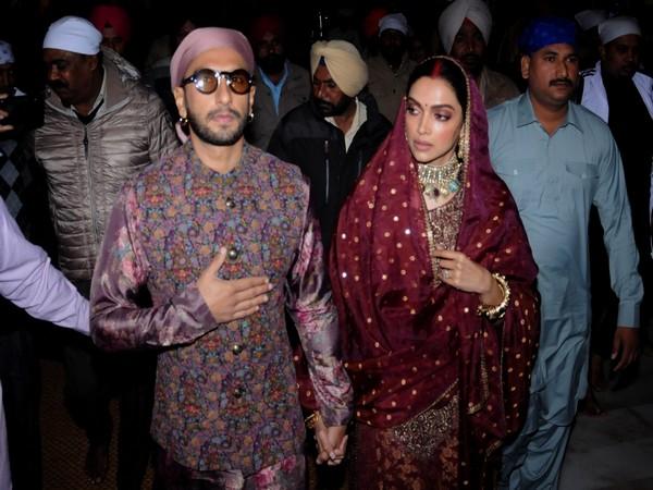 Ranveer Singh and Deepika Padukone at the Golden Temple in Amritsar.