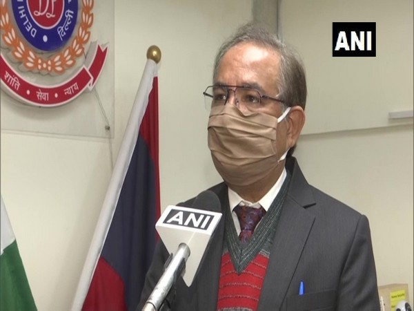 Delhi Special Commissioner of Police (Operations and Licensing) Muktesh Chander speaking to ANI. (Photo/ANI)