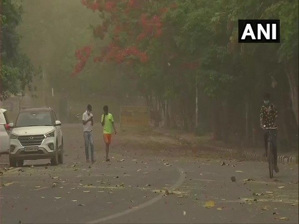 Visuals from Vasant Vihar area of Delhi. (Photo/ANI)