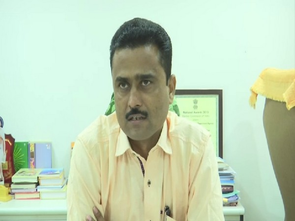 District Education Officer (DEO) Bharat Vader talking to ANI on Monday. Photo/ANI