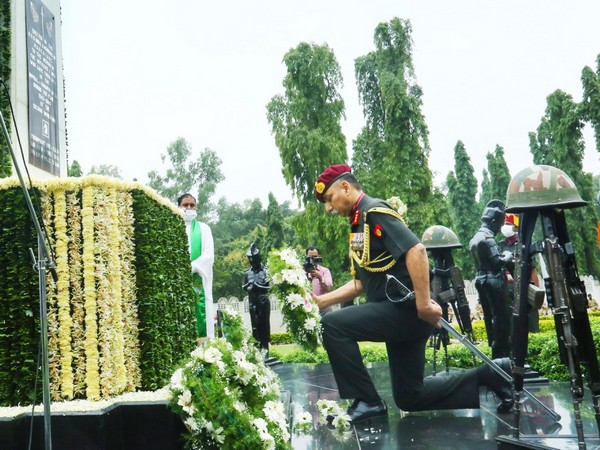 The DGOS paid homage to the martyrs of Army Ordnance Corps at the War Memorial of AOC Centre. Photo/ANI