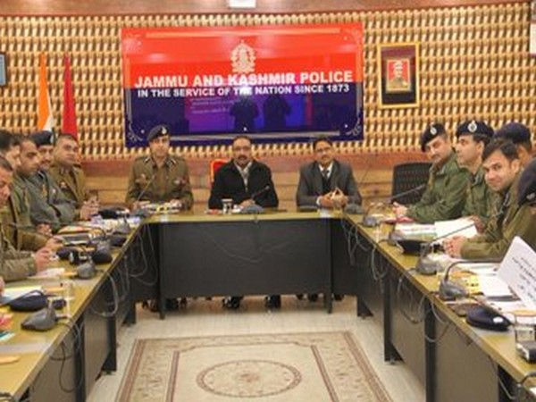 Visual from the high high-level security review meeting chaired by DGP Dilbag Singh. Photo/ANI