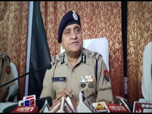 Director General of Police (DGP) OP Singh talking to reporters in Lucknow on Monday. Photo/ANI