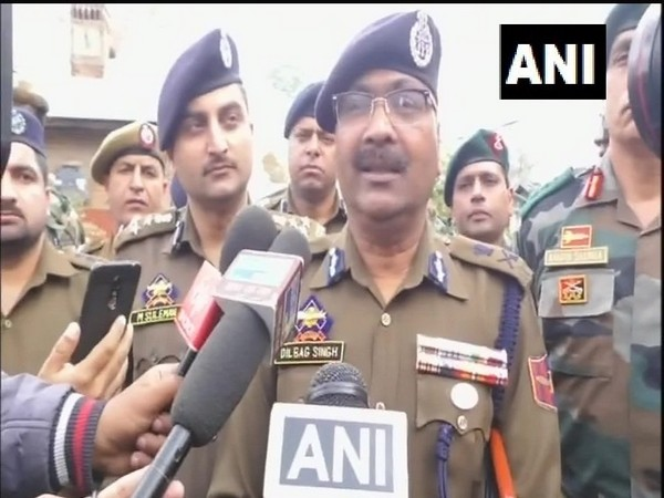 Jammu and Kashmir Director General of Police (DGP) Dilbagh Singh speaking to media persons on Saturday. Photo/ANI
