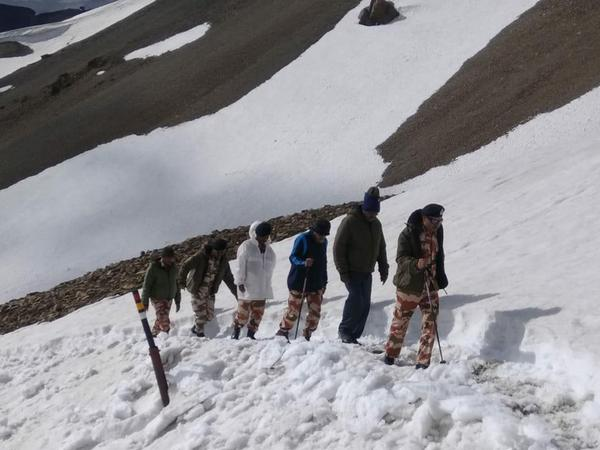 Visuals of the ITBP team which visited Lipulekh Route.