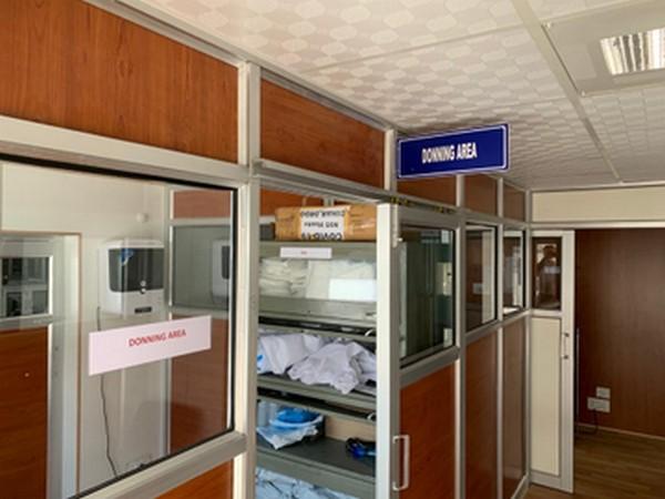 COVID-19 testing lab at DIHAR, Leh in Ladakh. Photo/ANI